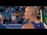 U.S. Army Sam Kendricks Stops Pole Vault Attempt To Hear National Anthem - Rio Olympics