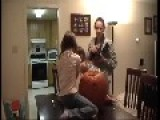 Little Girl Falls Off Table