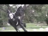 Remote-Controlled Flying Ghoul Prank Freaks Out Joggers & People In Park - See More At: Http: Instinctmagazine.com Post Remote-controlled-flying-ghou