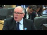 """Europe Must Accept Diversity Or Face War"": Timmermans In EU Parlmt: No More Nation States"
