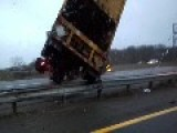 Turnpike I-95 - Truck Out Of Control On Black Ice And Crash