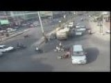 Road Accident-Car Hits Bike By BANGALORE Traffic Police