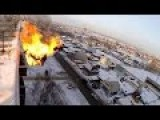 Russian Deadly Jump From 9 Story Building Lights Self On Fire