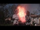 2 Idiots Fired At By Home Made Flamethrower In Slow Motion. What Can Go Possibly Wrong ?