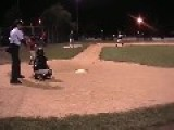 Little Baseball Player Gets Hit In Balls