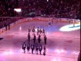 Canadian Hockey Fans Finish Singing USA Anthem