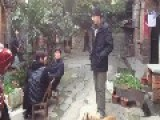 Pulling Fake Knife On Chinese Police Officer And Businesses Prank