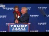 Kids Steal The Show At Donald Trump Rally In Green Bay WI