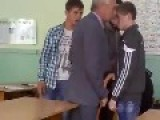 Russian Teacher Vs Student Fight!