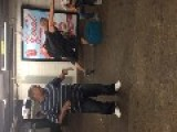 Subway Station Singer Belts Out Soulful Tune