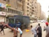 Police Vehicle In Cairo Was Set On Fire