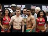 Amir Khan Saul 'Canelo' Alvarez Weigh In