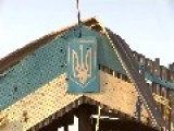 On The Ukrainian-Russian Border The Check Point Is Taken After Fights By Rebels Of DPR