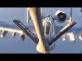KC-135 Stratotanker Air Refuels B-1 & A-10s Over Asia - Operation Inherent Resolve