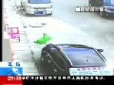 3 Yo Boy Walks It Off After Falling Off 3rd Floor And Hitting Parked Car
