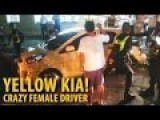 Crazy Lady Driver In A Yellow Kia In Rockwell Philippines