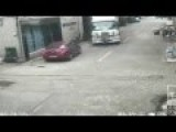 Chinaman Truck Driver Accelerates Over Old Lady