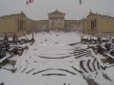 Snowfall Creates Beautiful Scene Outside Philadelphia Art Museum