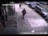 Thief Drop-kicks Woman Carrying Infant