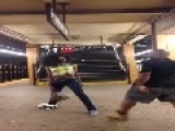 Shemale Fights Man In Subway