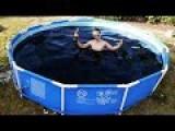 Taking A Bath In A Giant 1,500 Gallon Coca-Cola Swimming Pool!