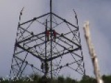 High Voltage Tower Construction Time Lapse