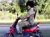 Pro-Russian Cossack Terrorist 'Dingo' Seen In High Spirits, Several Days Before His Timely Death