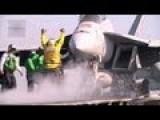 F A-18E-F Super Hornet Catapult Launchs - USS Enterprise