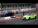 Nissan GTR Vs Skyline GTR, Honda Civic Drag Race