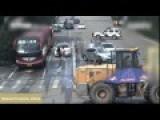 Chinese Police Subdue Crazy Bulldozer Driver