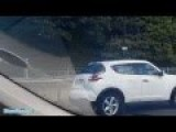 Woman Driver Using Mobile Off M60 J7 Altrincham Stretford