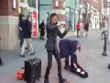 Amazing Street Performer With Violin And Looping Pedal