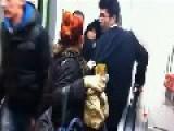 'Drunk' Asian Businessman Tries To Navigate The Escalator