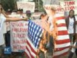 US Flags Burned To Protest US Military In Philippines