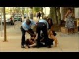 Drill Sergeant Catches IDIOT's In The Act Of Fighting Outside Court House+ GRAPHIC