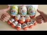 30 X Kinder Joy Surprise | 3D Elsa Frozzen, Eggs Unboxing NEW November 2014!!!