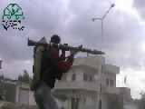 Syria: IF Fighters Try To Destroy An SAA Tank But Flee, Drop Their Weapons And Get Wounded When The Tank Return