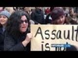 Feminist Protestor Assaults Reporter