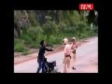 Vietnamese Traffic Police Vs Man With Bottles Of Beer