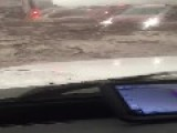 Flash Flooding Hits Interstate 5 In California