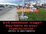 $15 Minimum Wage Sign Waver, Meet Your Replacement. *Video Link In Description*