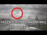The Destruction Of An Amored ISIS Car Bomb. Captured By Iraqi Special Forces Video Surveillance