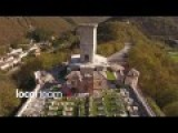 Drone Footage Of An Italian Cemetery Heavily Damaged By Earthquake