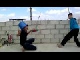 Syria - Children Playing War Games Get Close Call 22 05