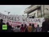 People March To Demand Borders Open For Refugees To Enter Europe