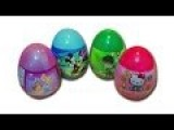 4 Surprise Egg Unboxing - Disney Donald Duck, Ben 10, Disney Princess, Hello Kitty