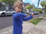 4 Year Old Boy Showing His Skills In Parkour