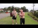 CRAZY, Drunk Aussie Bogan Backflips Off Bridge