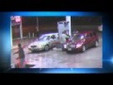 Crazy Woman Driver Purposely Runs Over Two Men At A Gas Station