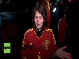 Brazil: Spanish Team Arrive To Fans Chanting Brazil, Brazil, Brazil!